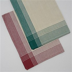 Christmas Tea Towel Kit 6 Red 6 Green Embroidery