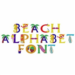 Home format fonts embroidery font beach alphabet from for Beach house embroidery design