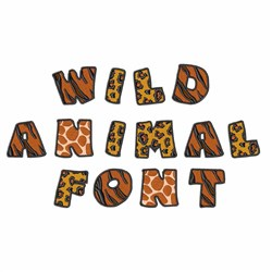 Home Format Fonts Embroidery Font Wild Animal Font From