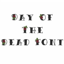 Home Format Fonts Embroidery Font Day Of The Dead Font