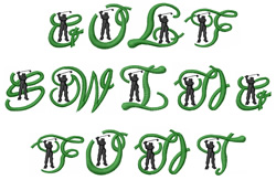 Styles Embroidery Font Golf From Machine Embroidery Designs