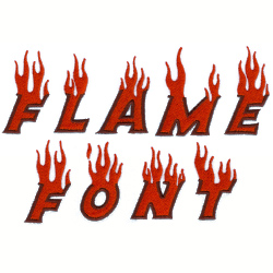 Flame Font embroidery font
