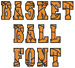 BASKETBALL Font embroidery font