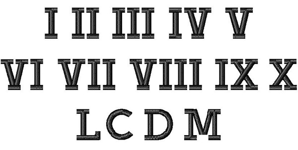 Roman Numeral Fonts | New Calendar Template Site