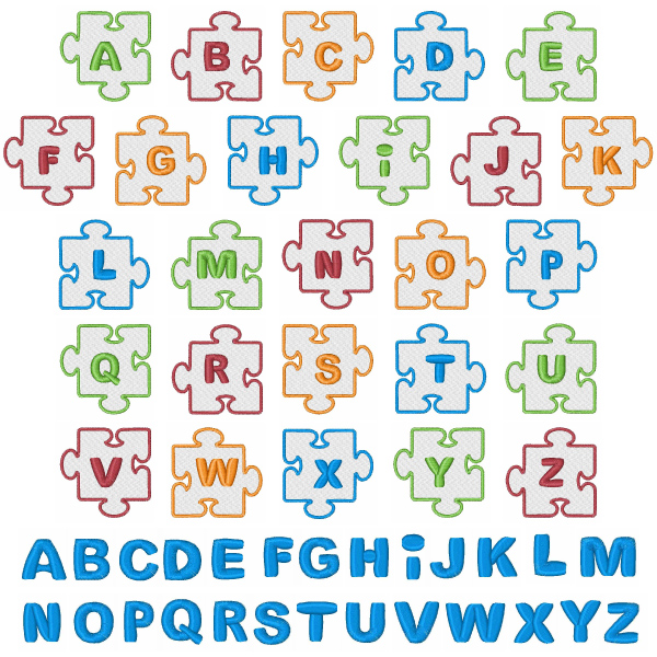 Puzzle Piece Font Puzzle Piece Outline Font