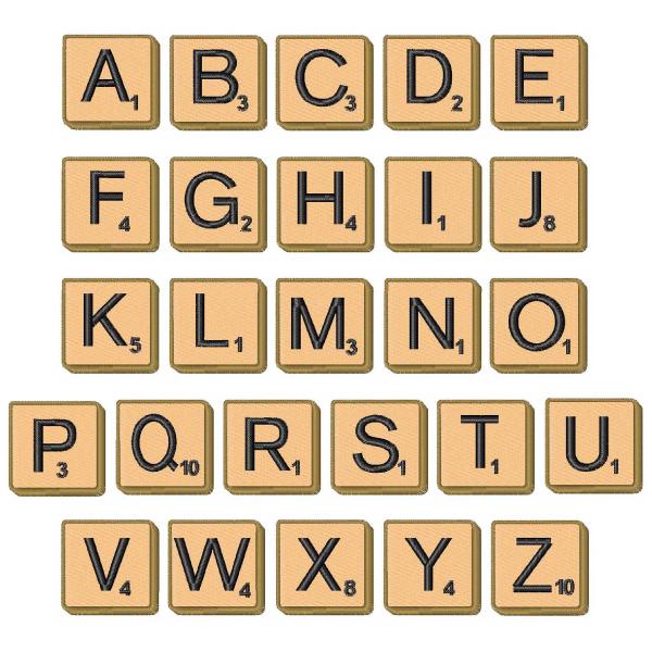 Crafty image inside letter tiles printable
