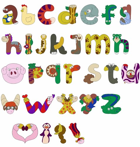 Home format fonts embroidery font lc animal alphabet from