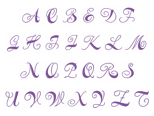 Curly Alphabet Fonts Brush scripts embroidery font : curly monogram ...