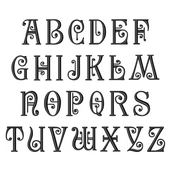 Styles Embroidery Font: Musical Font From Embroidery Patterns