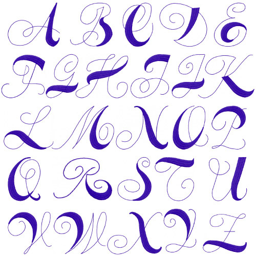 Simple Fancy Font Alphabet | www.imgkid.com - The Image ...