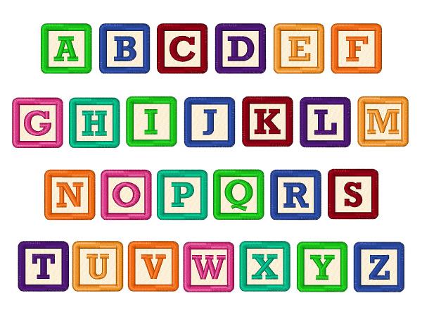 baby block letters font building blocks font