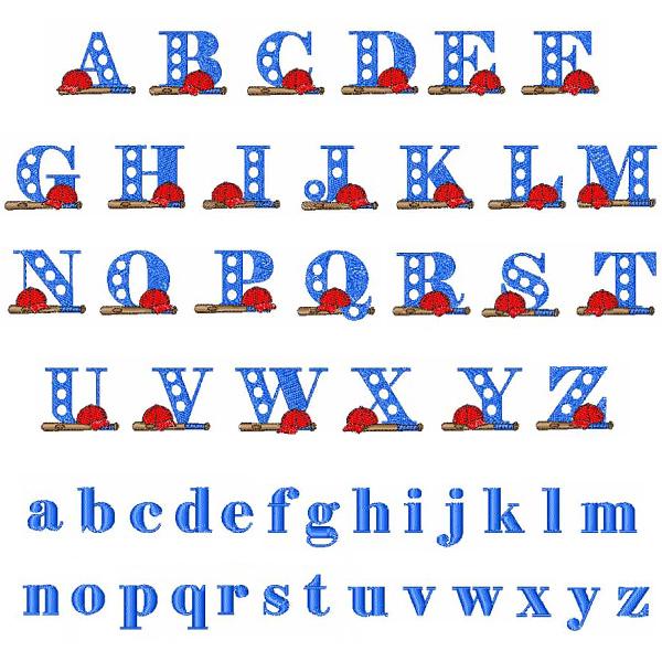 Baseball Alphabet Letters Baseball Alphabet Embroidery