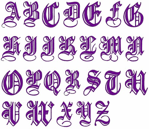 ... Font: DD Oh So Elegant Alphabet from Landmark Embroidery Designs