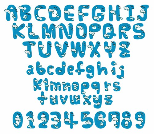 Cloud Letter Font Free