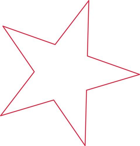 Star Outline Printable Star outline print art design