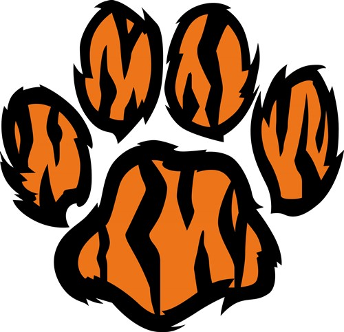 tiger tracks clip art - photo #38