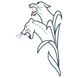 Cougar Outline embroidery design