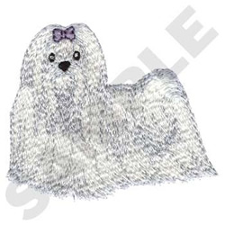 Maltese Dog embroidery design