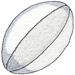 Rugby Ball embroidery design