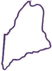 Outlines Embroidery Design Maine Outline From Dakota
