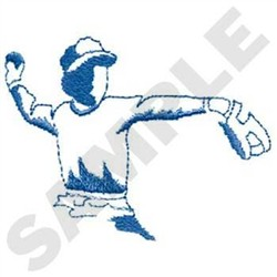 Baseball pitcher outline