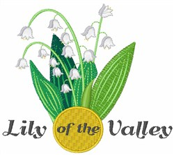 Lily Of The Valley embroidery design