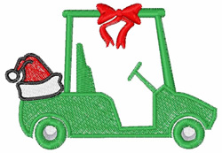 Christmas Golf Cart embroidery design