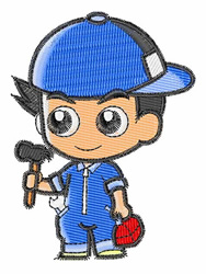 Mechanic embroidery design