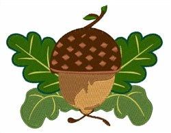 Fall Acorn embroidery design