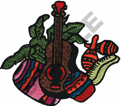 MARIACHI BAND INSTRUMENTS embroidery design