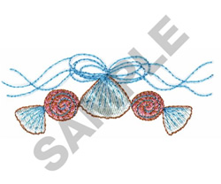 Redwork Seashell | Machine Embroidery Design