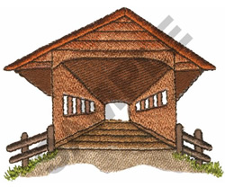 Bridge great notions embroidery design covered bridge for Covered bridge design plans
