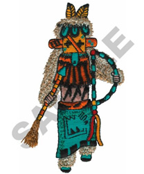 Navajo Kachina Doll - Shalako - White Corn