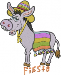 Donkey Fiesta embroidery design