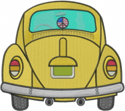 VW Beetle embroidery design