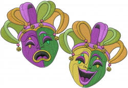 New Orleans Mardi Gras embroidery design - Machine Embroidery
