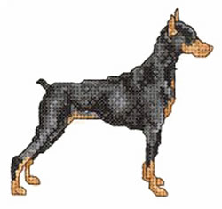 Doberman Embroidery Design Free