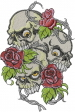 Skulls And Roses embroidery design