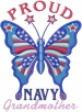 Proud Navy Grandma embroidery design
