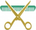 Barber Scissors embroidery design