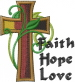 Faith Hope Love embroidery design