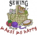Kittens Sewing Basket embroidery design