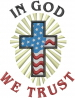 In God We Trust embroidery design