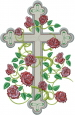 Cross Of Roses embroidery design