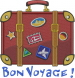 Suitcase Voyage embroidery design