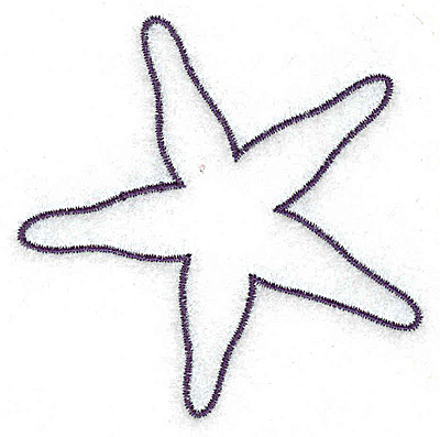 Starfish Outline Png Starfish Outline Embroidery