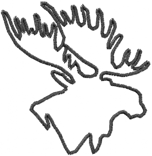 Moose head drawing outline - photo#11