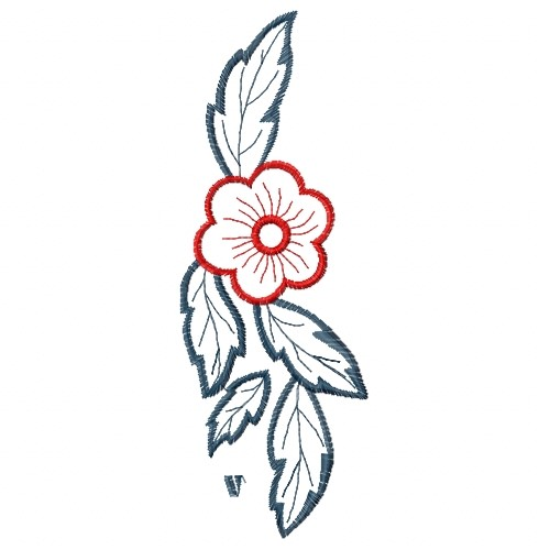Outlines(ATG Freedesigns) Embroidery Design Flower Outline Border From Anns Club