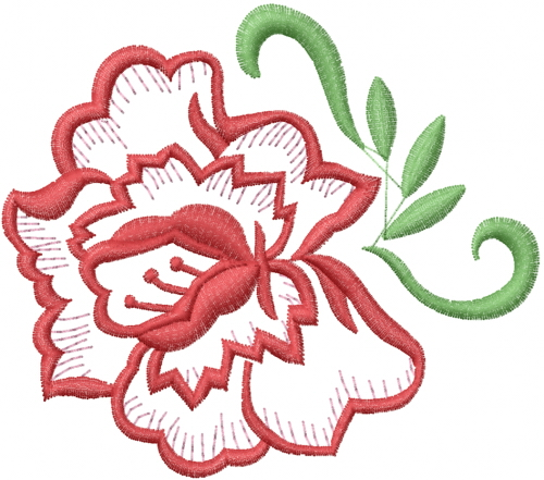 Outlines atg freedesigns embroidery design rose outline