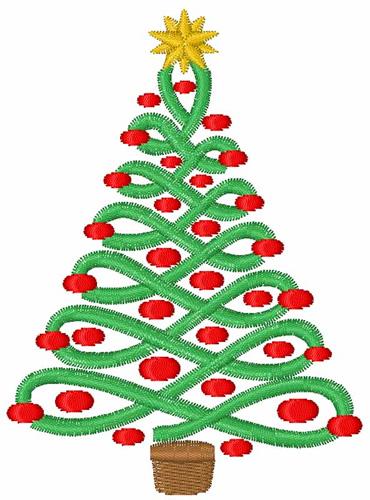 Free Christmas Tree Applique Embroidery Design